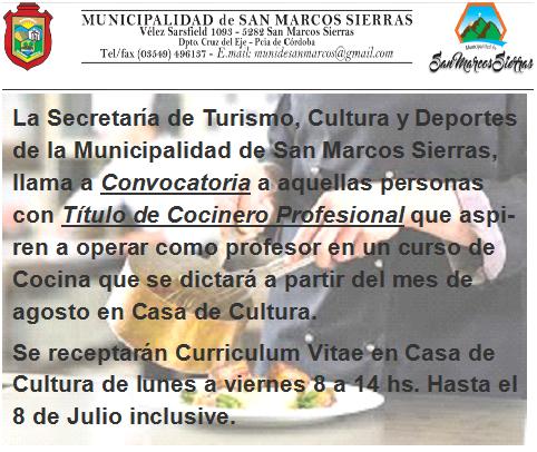 Eventos Deportivos – San Marcos Sierras – Córdoba – Argentina